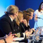 Helen Kenlly from Lloyds List addresses the International maritime Forum in Liverpool