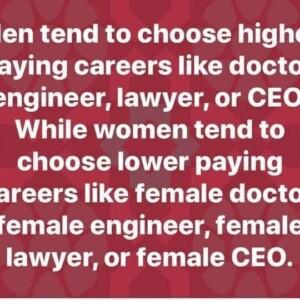 Men tend ... Women tend ....